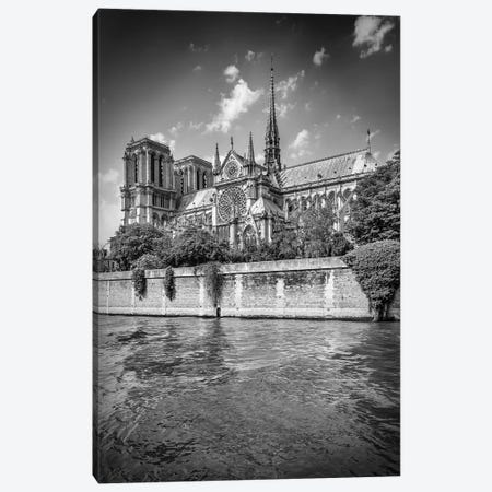 Cathedral Notre Dame In Black & White Canvas Print #MEV277} by Melanie Viola Canvas Wall Art