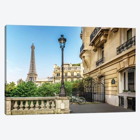 Parisian Charm Canvas Print #MEV278} by Melanie Viola Art Print