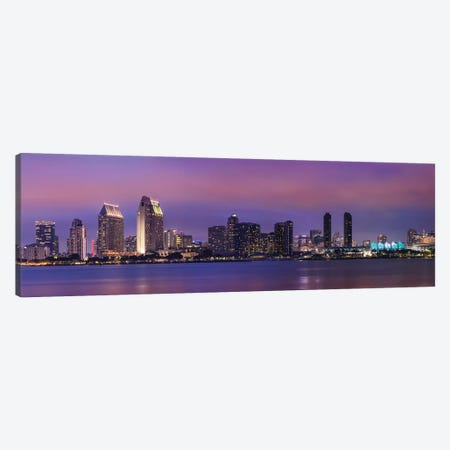 San Diego Evening Skyline Canvas Print #MEV285} by Melanie Viola Canvas Art Print