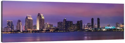 San Diego Evening Skyline Canvas Art Print