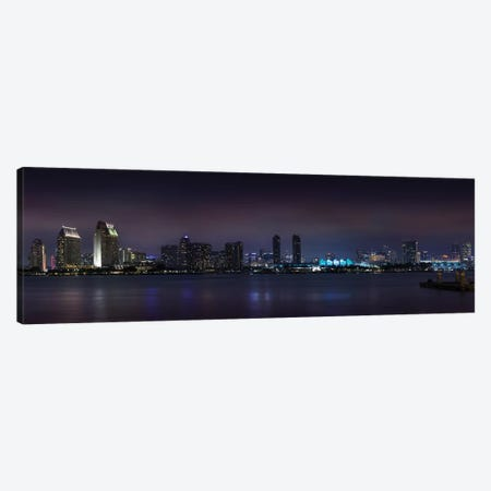 San Diego Nightscape Canvas Print #MEV287} by Melanie Viola Art Print