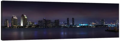 San Diego Nightscape Canvas Art Print