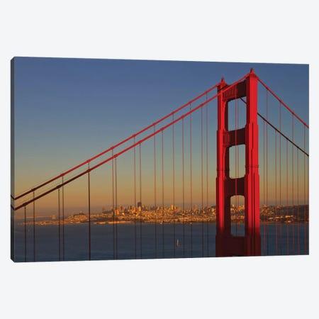 Golden Gate Bridge At Sunset Canvas Print #MEV297} by Melanie Viola Canvas Wall Art