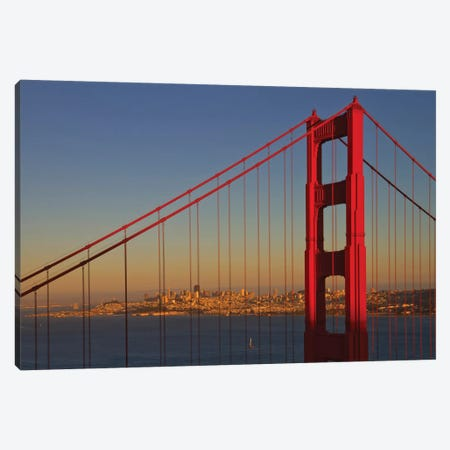 Golden Gate Bridge At Sunset Canvas Print #MEV297} by Melanie Viola Canvas Wall Art