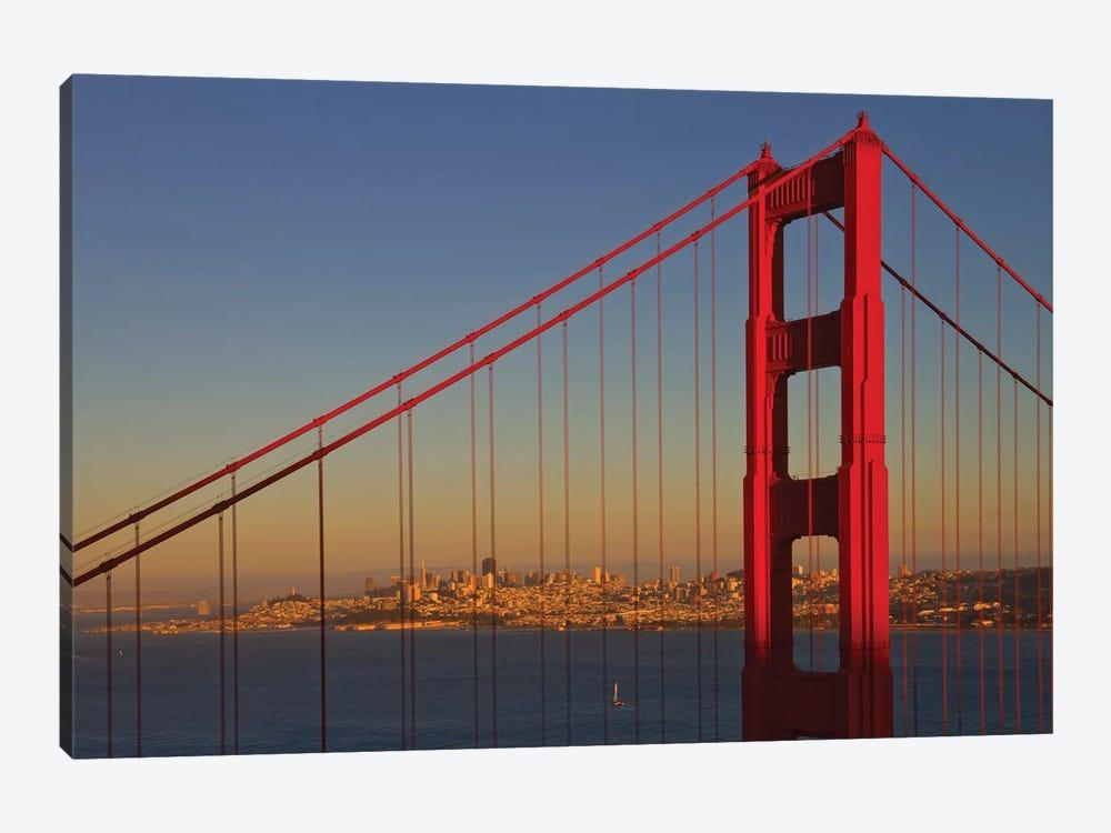 Golden Gate Bridge At Sunset by Melanie Viola 1-piece Canvas Print