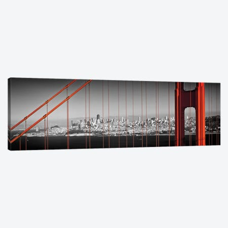Golden Gate Bridge Panoramic Downtown View Canvas Print #MEV298} by Melanie Viola Canvas Print