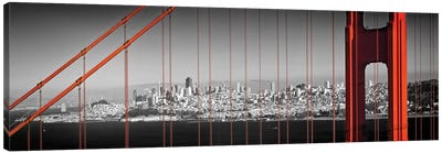 Golden Gate Bridge Panoramic Downtown View Canvas Art Print