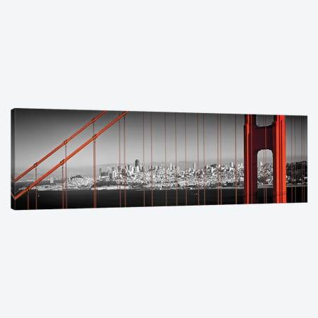Golden Gate Bridge Panoramic Downtown View Canvas Print #MEV298} by Melanie Viola Canvas Print