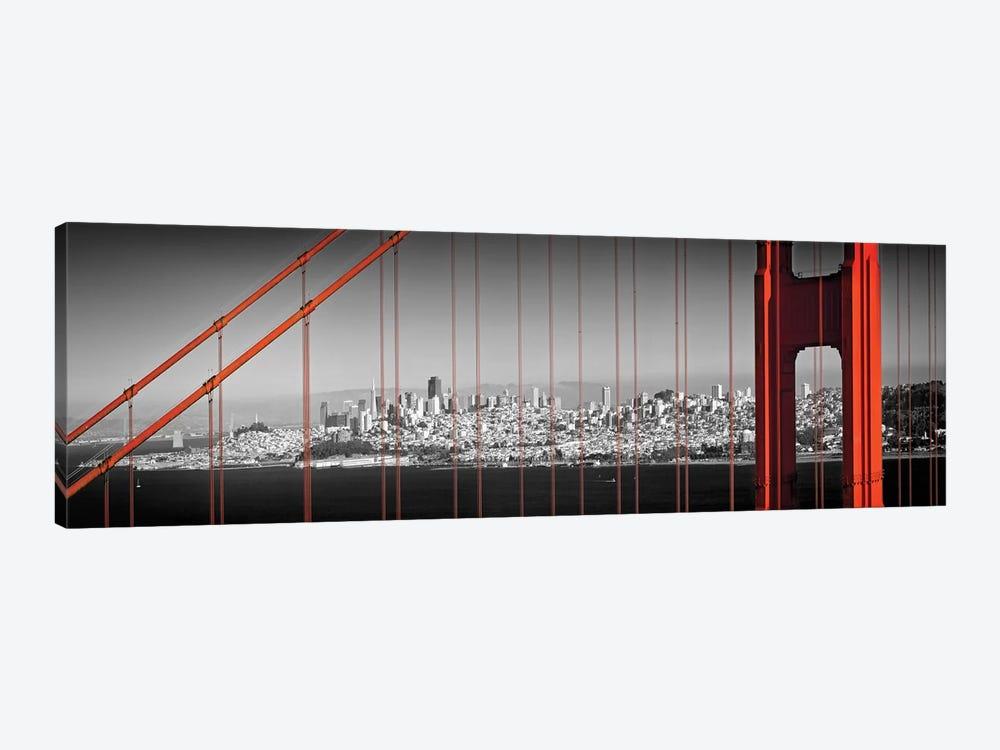 Golden Gate Bridge Panoramic Downtown View by Melanie Viola 1-piece Canvas Artwork