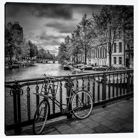 Amsterdam Cityscape Canvas Print #MEV2} by Melanie Viola Canvas Artwork
