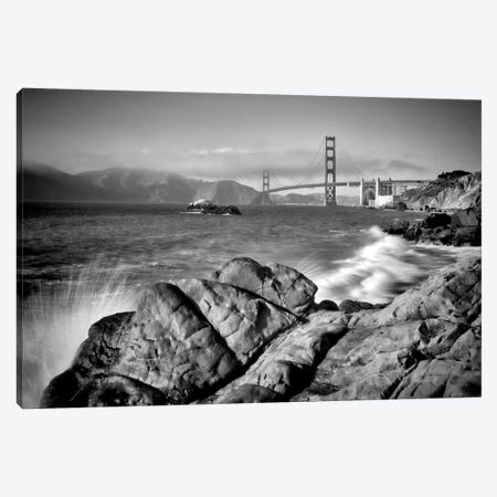San Francisco Baker Beach | Monochrome Canvas Print #MEV301} by Melanie Viola Canvas Print