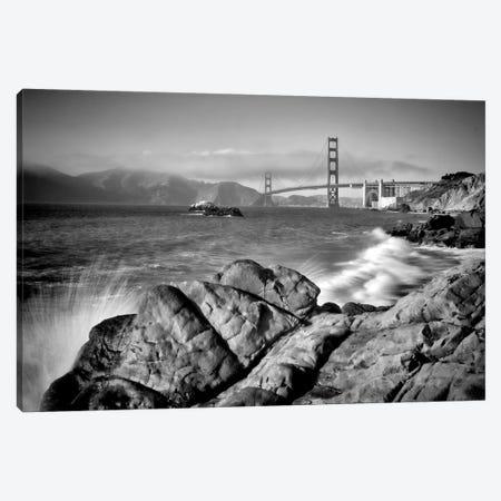 San Francisco Baker Beach | Monochrome Canvas Print #MEV301} by Melanie Viola Canvas Print
