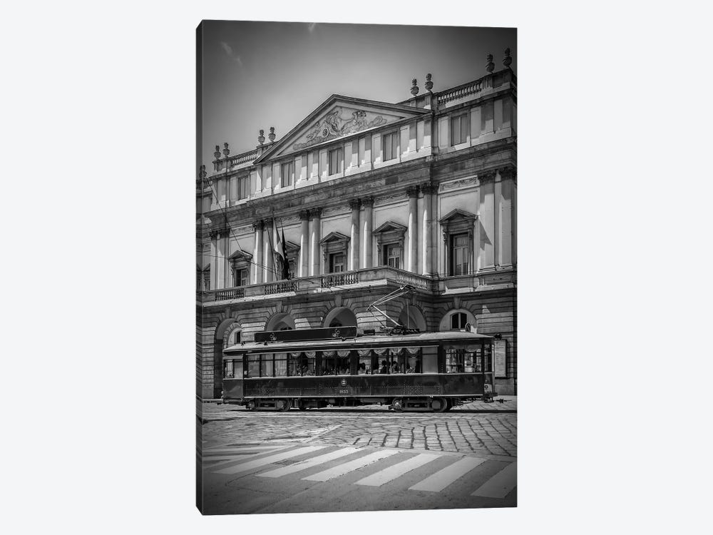 Milan Teatro Alla Scala And Tram by Melanie Viola 1-piece Canvas Art
