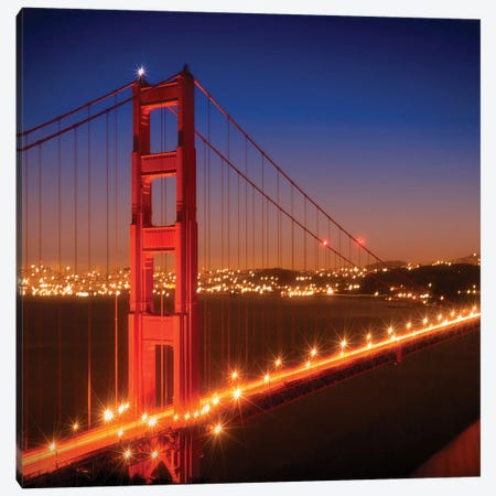Golden Gate Bridge After Sunset Canvas Print #MEV304} by Melanie Viola Canvas Artwork