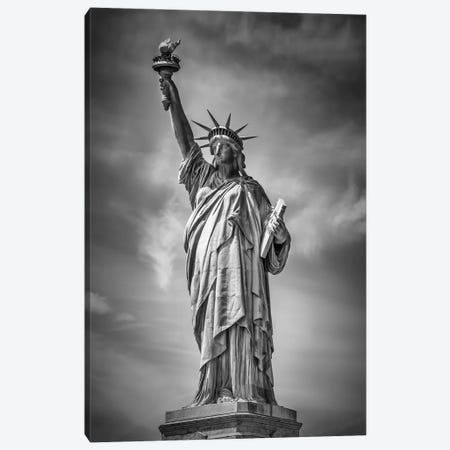 New York City Statue Of Liberty Canvas Print #MEV306} by Melanie Viola Canvas Wall Art