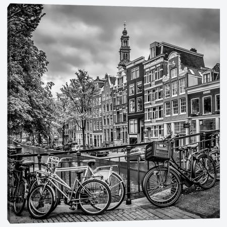 Amsterdam Flower Canal Canvas Print #MEV307} by Melanie Viola Canvas Artwork