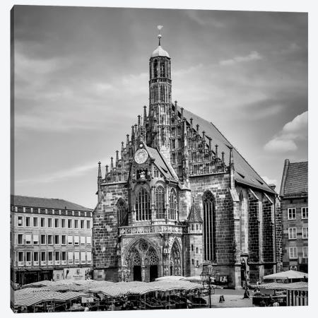 Nuremberg Church Of Our Lady And Main Market Canvas Print #MEV308} by Melanie Viola Art Print