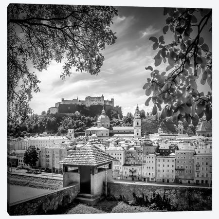 Salzburg Gorgeous Old Town With City Wall Canvas Print #MEV309} by Melanie Viola Canvas Print
