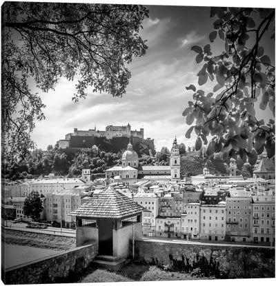 Salzburg Gorgeous Old Town With City Wall Canvas Art Print