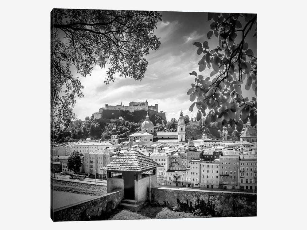 Salzburg Gorgeous Old Town With City Wall by Melanie Viola 1-piece Art Print
