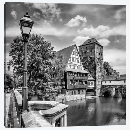 Nuremberg View From Max Bridge To Hangman'S Bridge Canvas Print #MEV310} by Melanie Viola Canvas Art