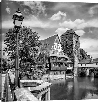 Nuremberg View From Max Bridge To Hangman'S Bridge Canvas Art Print