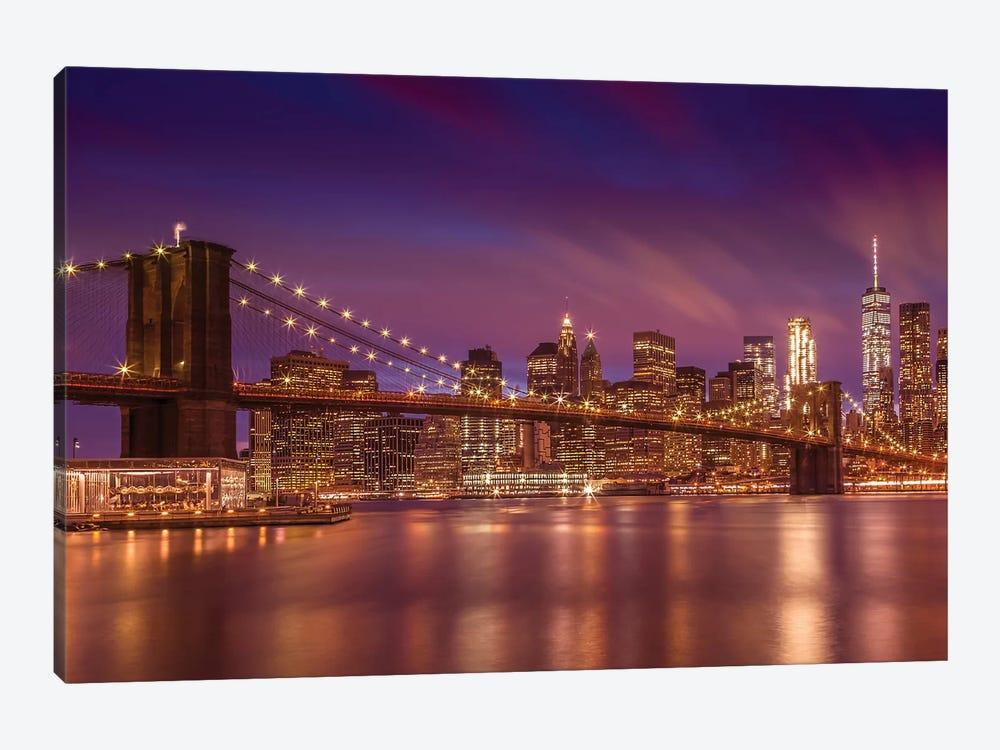 Brooklyn Bridge New York City Sunset by Melanie Viola 1-piece Art Print