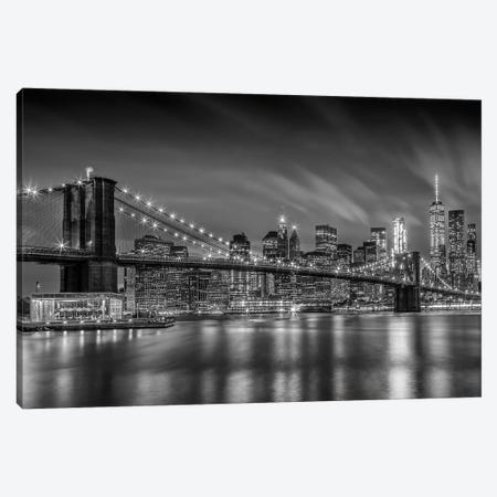Brooklyn Bridge Nightly Impressions Canvas Print #MEV317} by Melanie Viola Canvas Print