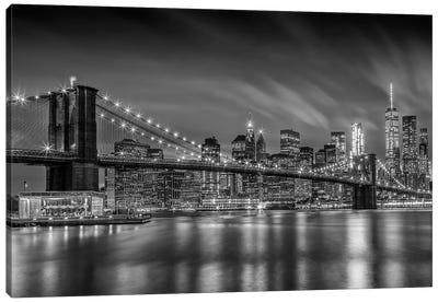 Brooklyn Bridge Nightly Impressions Canvas Art Print