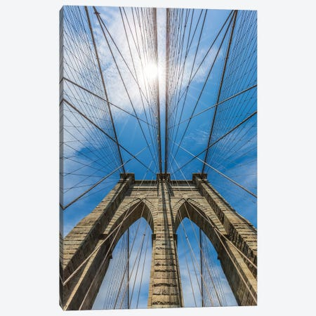New York City Brooklyn Bridge Skyhigh Canvas Print #MEV320} by Melanie Viola Canvas Print