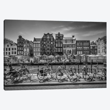 Amsterdam Singel With Flower Market Canvas Print #MEV322} by Melanie Viola Canvas Print
