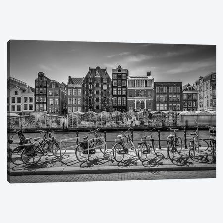 Amsterdam Singel With Flower Market Canvas Print #MEV322} by Melanie Viola Canvas Print