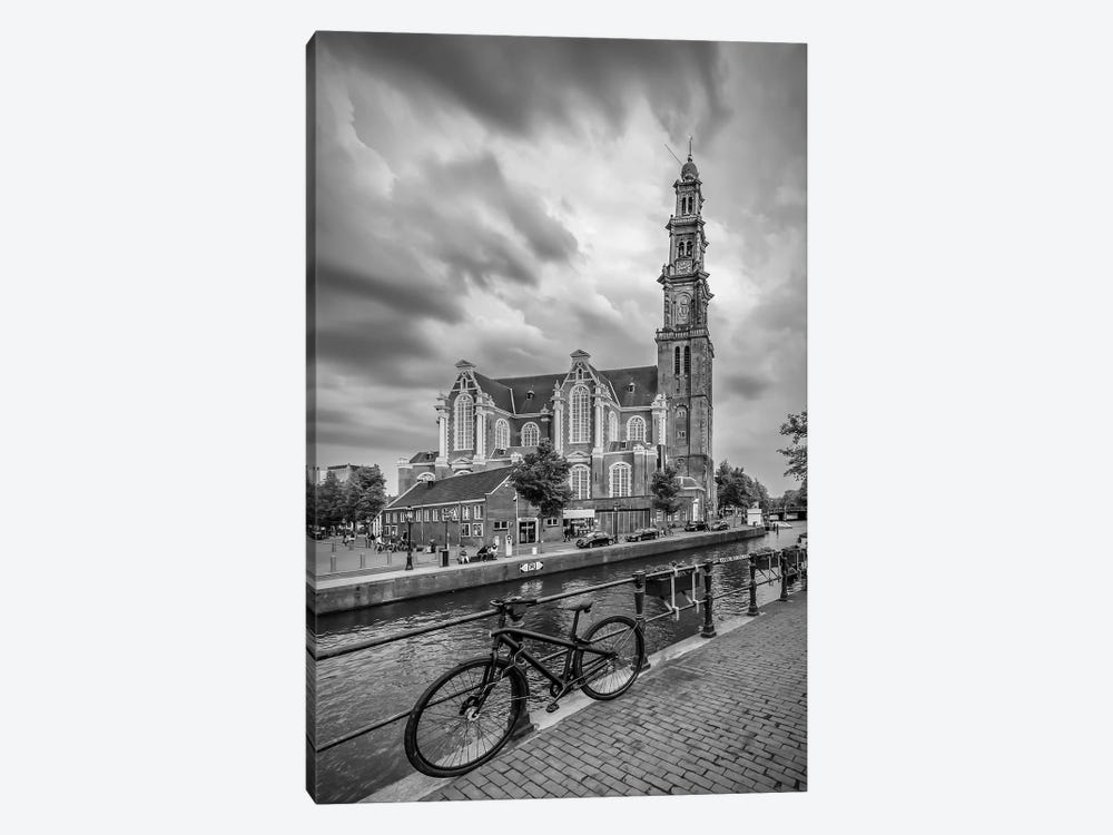 Amsterdam Westerkerk And Prinsengracht by Melanie Viola 1-piece Canvas Print