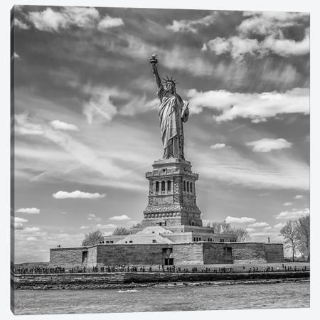 NYC Statue Of Liberty Canvas Print #MEV324} by Melanie Viola Canvas Artwork