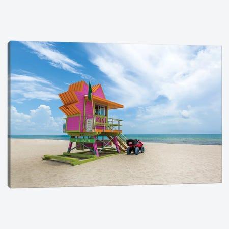 Miami Beach Summer Feeling Canvas Print #MEV326} by Melanie Viola Canvas Art