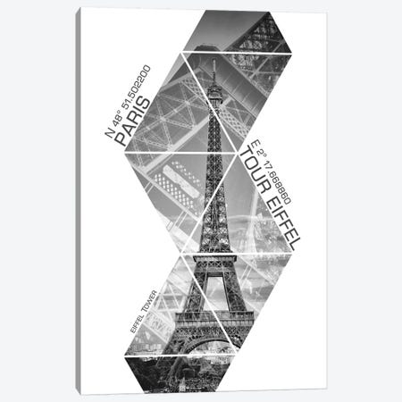 Coordinates Paris Eiffel Tower III Canvas Print #MEV32} by Melanie Viola Canvas Print