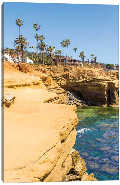 San Diego Sunset Cliffs Canvas Art Print