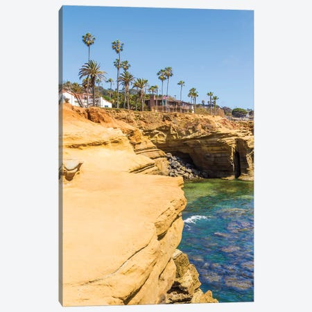 San Diego Sunset Cliffs Canvas Print #MEV347} by Melanie Viola Canvas Artwork