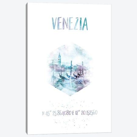 Coordinates Venice Grand Canal Canvas Print #MEV34} by Melanie Viola Canvas Art