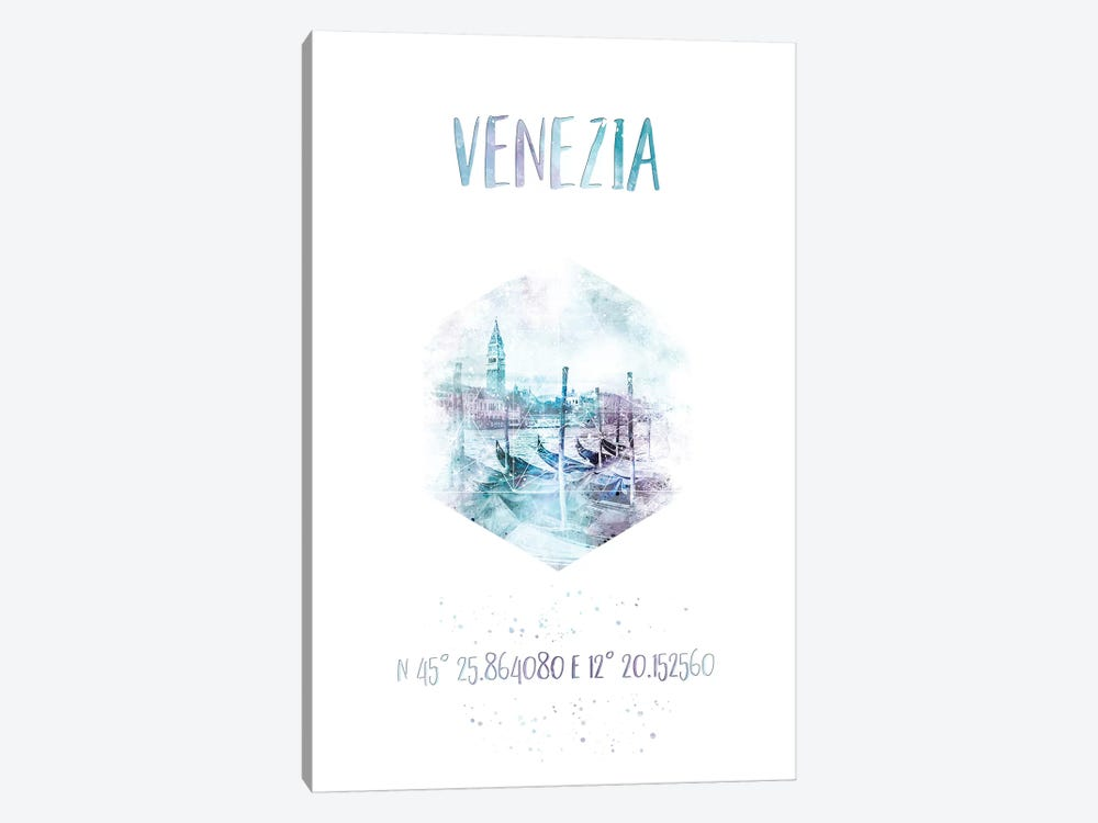 Coordinates Venice Grand Canal by Melanie Viola 1-piece Art Print