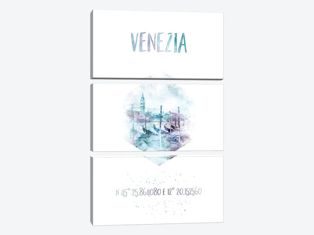 Coordinates Venice Grand Canal by Melanie Viola 3-piece Canvas Art Print