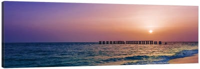 Gasparilla Island Sunset Panorama Canvas Art Print