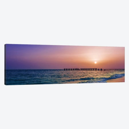 Gasparilla Island Sunset Panorama Canvas Print #MEV356} by Melanie Viola Canvas Art Print