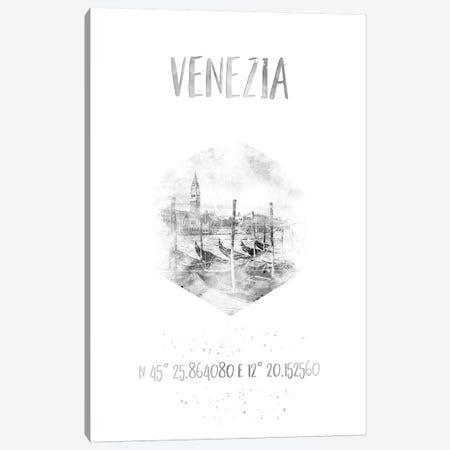 Coordinates Venice Grand Canal Canvas Print #MEV35} by Melanie Viola Canvas Artwork