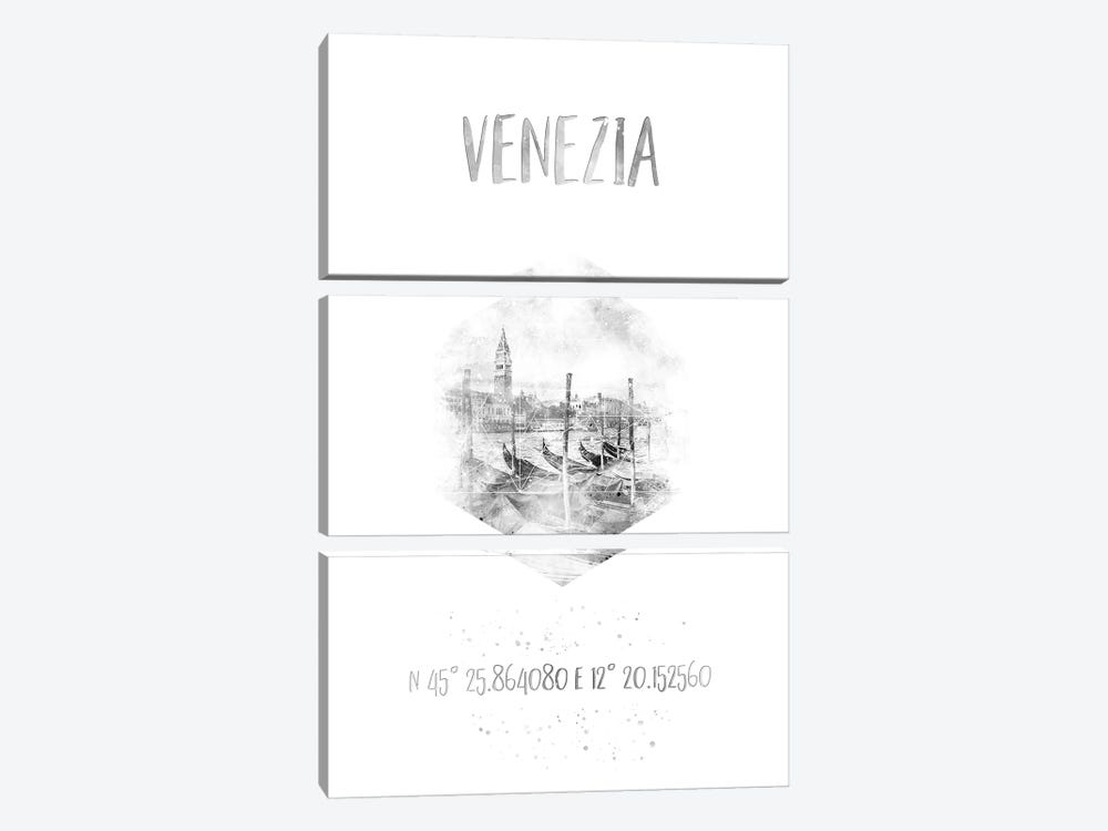 Coordinates Venice Grand Canal by Melanie Viola 3-piece Canvas Wall Art
