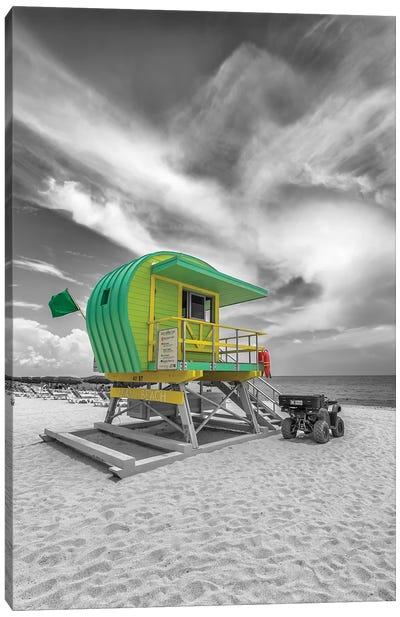 Typical Miami Beach Canvas Art Print
