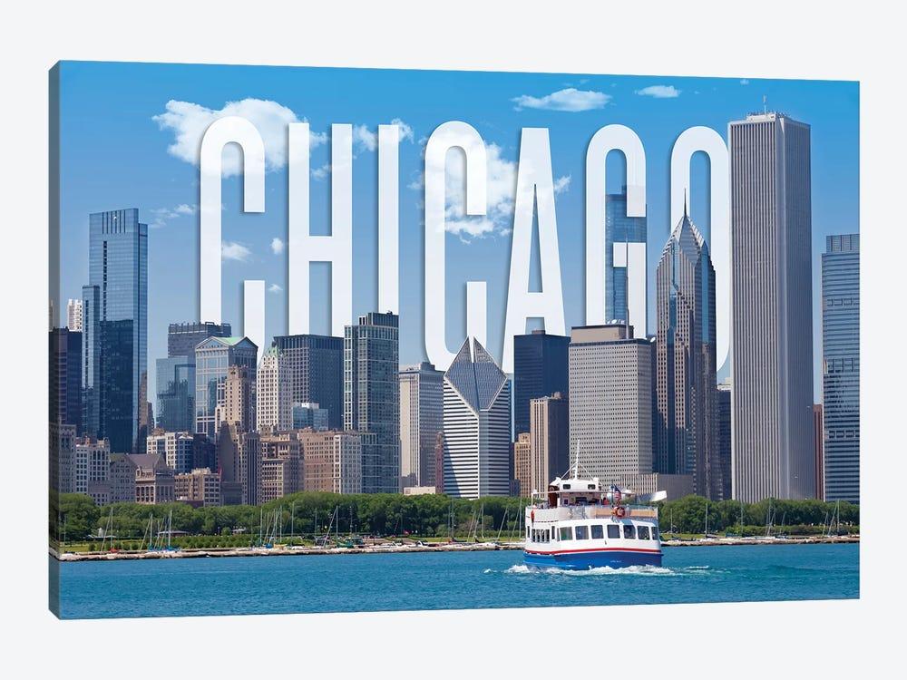 Skyline Of Chicago by Melanie Viola 1-piece Canvas Wall Art