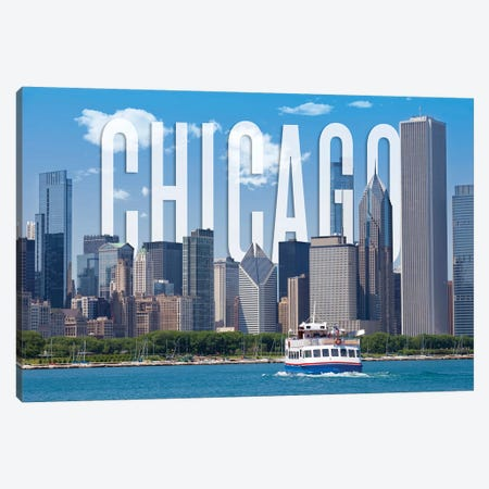 Skyline Of Chicago Canvas Print #MEV362} by Melanie Viola Art Print