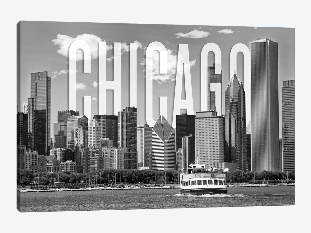 Skyline Of Chicago Monochrome by Melanie Viola 1-piece Canvas Art Print