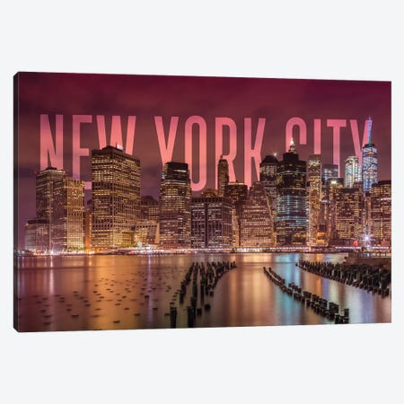 New York City Skyline Canvas Print #MEV366} by Melanie Viola Canvas Wall Art